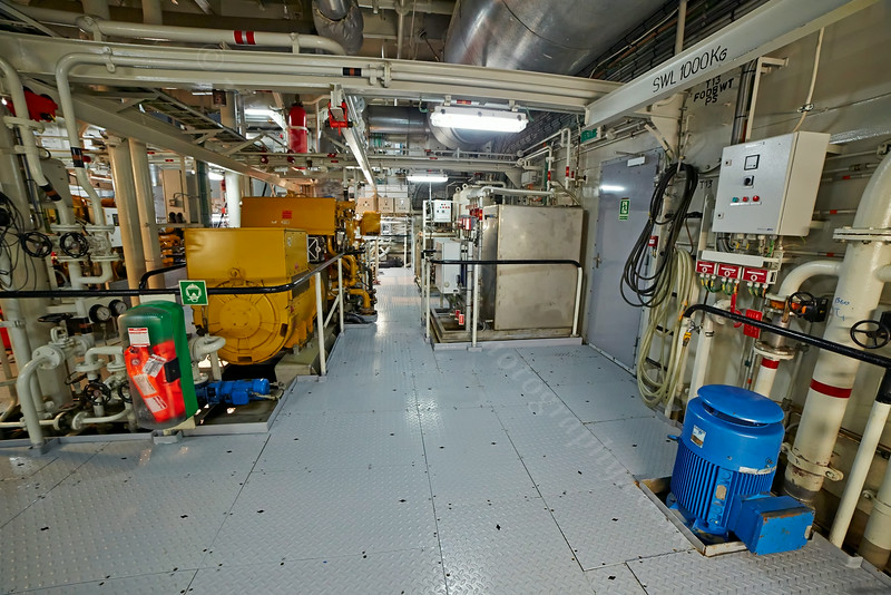 Engine Room Aboard the 'SD Victoria' at Great Harbour, Greenock - 27 August 2014
