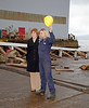 Nicola Sturgeon with 19 year old apprentice Jill Hughes after the Launch - 17 December 2012