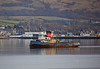 'Golden Cross' Passing Helensburgh - 21 November 2013