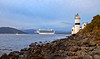 'Emerald Princess' Passing Cloch Lighthouse - 14 September 2013