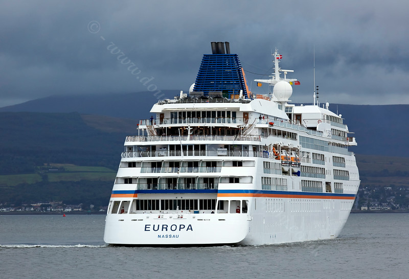 'Europa' off Greenock Esplanade - 12 August 2014