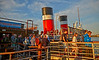 Passengers Disembark in the Evening Sun from the PS Waverley at Customhouse Quay - 10 July 2014