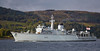 HMS Brocklesby (M33) Off Rhu Spit - 7 October 2013