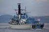 HMS Northumberland (F238) Passing Port Glasgow - 6 October 2013