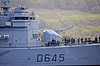 French Frigate 'La Motte-Picquet' (D645) Passing Rhu Spit - 4 October 2013