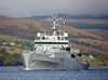 HMS Enterprise (H88) Approaching Rhu Spit - 7 October 2013