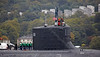 USS Missouri - USN Submarine Outbound from Faslane  - 7 October 2013