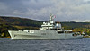 HMS Enterprise (H88) Passing Rhu Spit - 7 October 2013