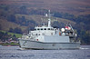 HMS Bangor (M109) Approaching Rhu Spit - 7 October 2013