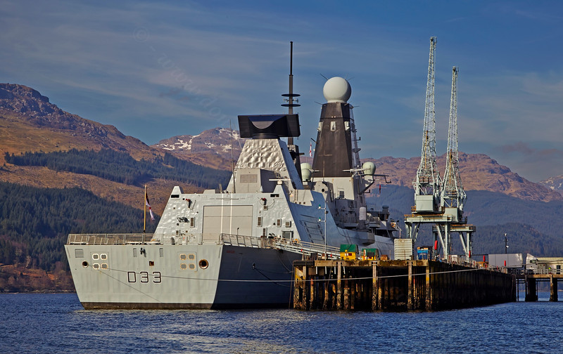 'HMS Dauntless' (D33) at Glen Mallan - 11 March 2014