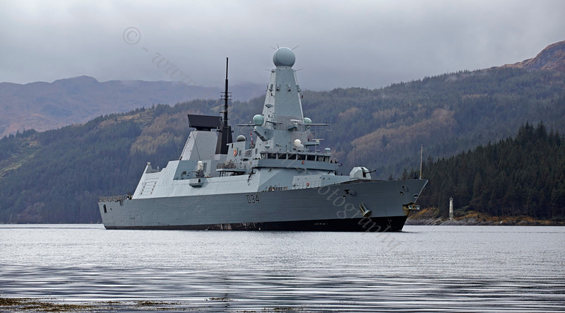 HMS Diamond (D34) - Off Glen Mallan - 3 May 2013