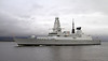 HMS Duncan on Second Sea Trials - Passing Port Glasgow - 16 November 2012