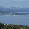 Photo taken from the view point at the top of the Kilmacolm Road above Port glasgow, from l-r, RFA Mounts Bay, HMS Ark Royal, Tonnerre and HMS Manchester