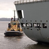 RFA Fort Victoria A387 9th December 2013 River Forth