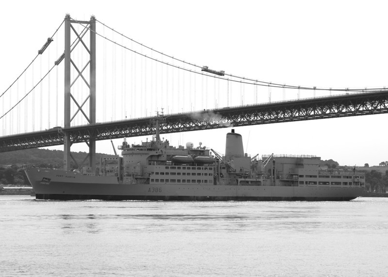 RFA Fort Austin A386 12th July 2013 Forth Bridges, Scotland