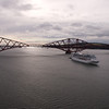 Ocean Princess Princess Cruises 3rd August 2013 Passing under the Forth Rail Bridge before arrival at Rosyth