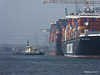 AL QIBLA moving out from astern NYK ORION Southampton PDM 08-03-2014 12-41-24