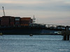 MOL COMMITMENT over Husbands Jetty Departing Southampton PDM 25-06-2014 21-06-44