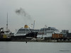 ADONIA Smoking over Husbands Jetty Southampton PDM 21-05-2014 19-50-16