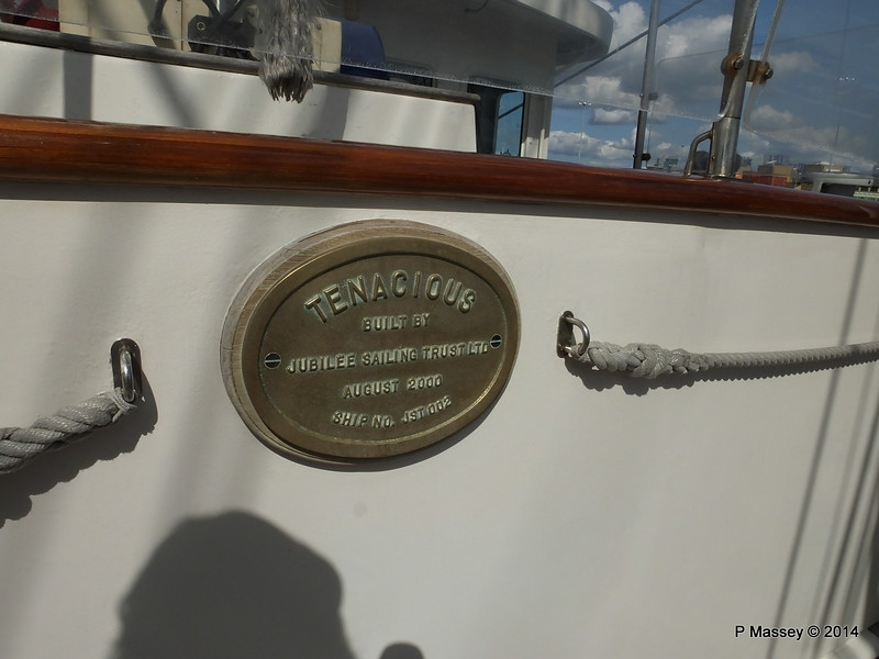 Built by Jubilee Sailing Trust 2000 Southampton PDM 22-08-2014 15-09-40