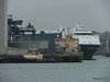 AUTO BAY reversing in to Berth 31 Passing VICTORIA C Southampton PDM 28-02-2015 15-10-35