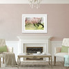 Blush Pink Living Room with Framed Cherry Blossoms Art - Beverly Brown Prints
