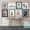 Shabby Chic Gray Entry Hall with Art Gallery Wall - Beverly Brown Prints