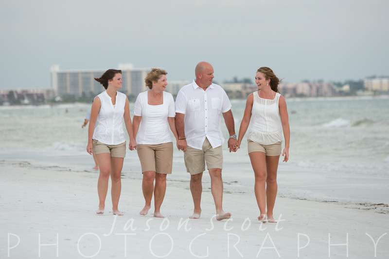 Riley Family on Siesta Key, July 2014
