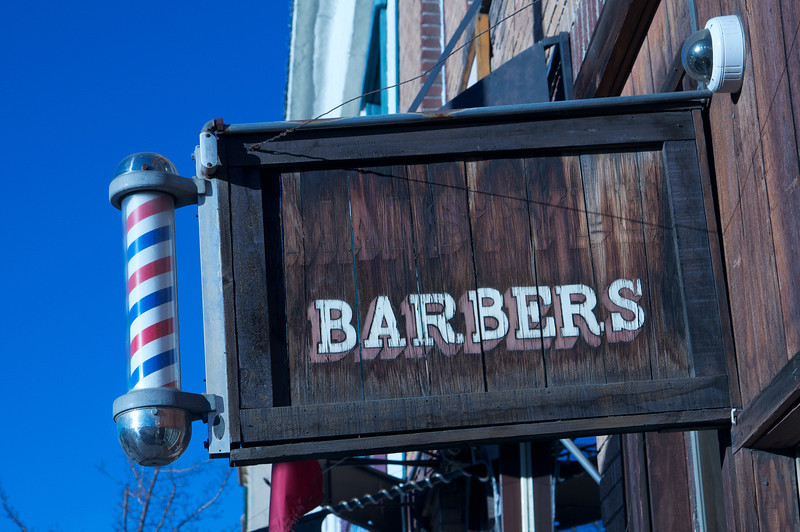 Old Time Barber Shop Sign