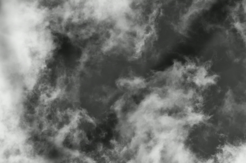 Clouds, mono abstract