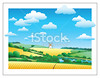 stock-illustration-5893967-rural-landscape-with-the-wheat-field-and-mill