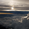 Thundercloud with silver lining above central Africa