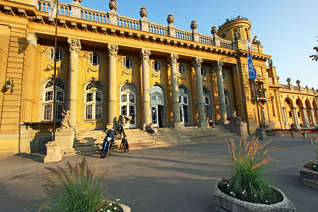 Szechenyi Bath and Spa in City Park is one of several natural mineral baths in Budapest