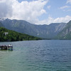 Looking west along Lake Bohinj