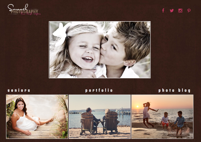 """Sealed with a Smooch Photography from Illinois<br /> Specializes in Family Portraits & Senior Photography<br /> Independent homepage & left navigation<br /> Web Site can be found at: <a href=""""http://www.sealedwithasmooch.com"""">http://www.sealedwithasmooch.com</a><br /> SmugMug Customization by jR Customization"""