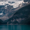 Lake Louise with glacier above