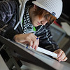 Jacob Carter works through his weekly drafting assignment at UAF's Community and Technical College.