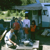 Tommy, Larry, Marian, Terry, Afric, Mike,& Carolyn.  We were camping in our Scotty trailer.