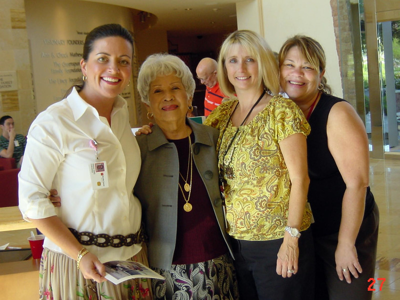 Susan, Afriquita, Christine, and Karen.  Taken in August 2009 at the Nevada Cancer Institute.