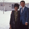 Afriquita and Larry in Montana - 1969.  We were tough.  Look at the snow; for 30 straight days the temperatures stayed below freezing - the lows weresub-zero.