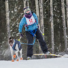 Members of the Alaska Skijor & Pulk Association race on the UAF ski trails during a scheduled event in Feb., 2013.