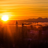 The sun rises over the Tanana Valley about 10:15 on a cold November morning.