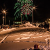 Hundreds of Fairbanks community members enjoyed the New Years' Eve fireworks display from UAF's West Ridge.