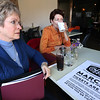 Brenda Michael-Haggard and Lynn Staggs of Volunteer Tulsa work on plans for the Coffee Crawl taking place March 1st in Tulsa