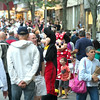 DESI SMITH/Staff photo.  Mickey and Mini Mouse were one of the most recognized faces in the crowd, as the greeted the children during the Annual Main Street Block Party Saturday night.  July 19,2014