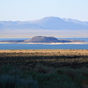 The afternoon sun on Mono Lake