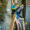 Undergraduates Miriam Brooks, bottom, and Teal Rogers practice their silk climbing skills in the SRC.