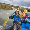 Graduate student Vaibhav Raj paddles down the Nenana River during a day-long raft trip with UAF Outdoor Adventures.
