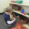 January 14, 2014 - Nathan is using his small motor skills as he builds with the bristle blocks.