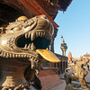 Guardians of the Chyasin Mandap. Durbar Square, Bhaktapur. Nepal